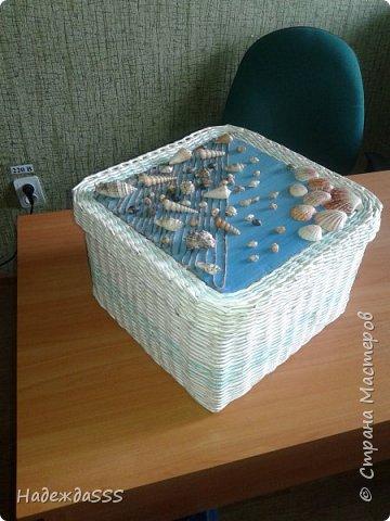Одна из первых работ))))  Сделана сделана для подруги - для донышка и крышки использовала ее же обои)))) фото 3
