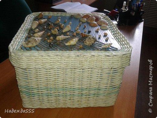 Одна из первых работ))))  Сделана сделана для подруги - для донышка и крышки использовала ее же обои)))) фото 4