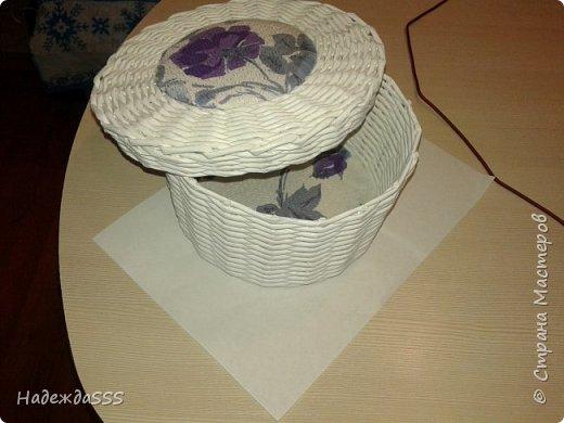 Одна из первых работ))))  Сделана сделана для подруги - для донышка и крышки использовала ее же обои)))) фото 5
