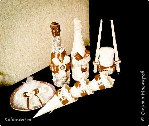 Свадебные бутылочки и бокалы фото 2