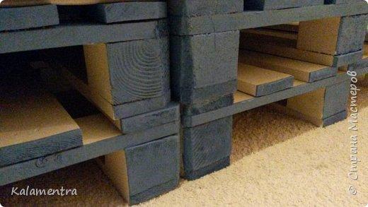 Хочу поделиться с Вами, как я сделала кровать из паллетов (деревянных поддонов))))  фото 13