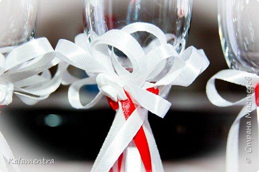 Свадебные бутылочки и бокалы фото 15