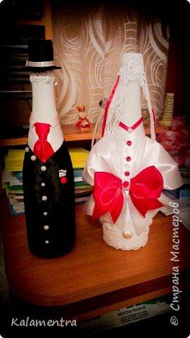 Свадебные бутылочки и бокалы фото 10