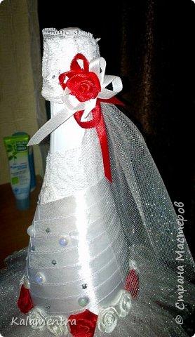 Свадебные бутылочки и бокалы фото 7