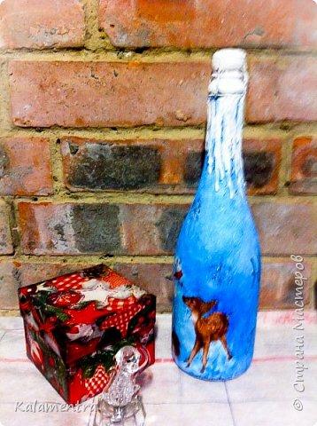 Новогодние бутылочки и украшения фото 3
