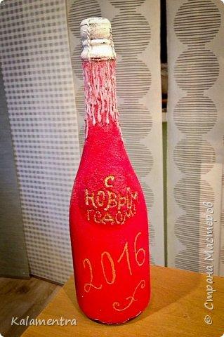 Новогодние бутылочки и украшения фото 6