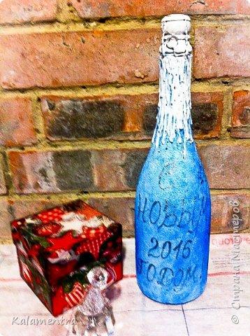 Новогодние бутылочки и украшения фото 4