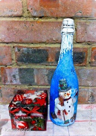 Новогодние бутылочки и украшения фото 2