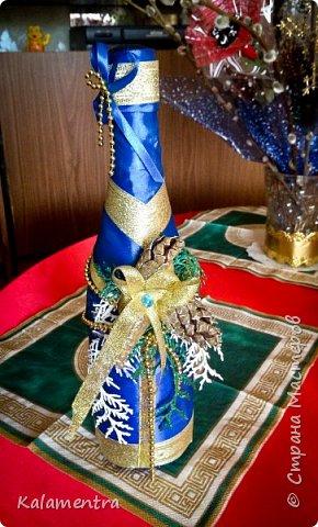 Новогодние бутылочки и украшения фото 1