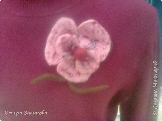 Цветочки из шерсти фото 1