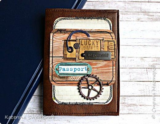 Мужская обложка для паспорта