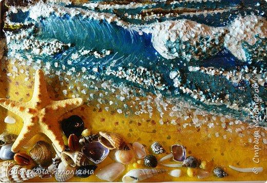 """И снова...здравствуйте жители СМ! Представляю Вам новую работу, выполнена так же как и  панно """"Зимний закат.""""  http://stranamasterov.ru/node/979934 Небо и песок) нарисованы на ватмане под стеклом, всё остальное поверх стекла. .Размер рамки 33х25 см. фото 5"""