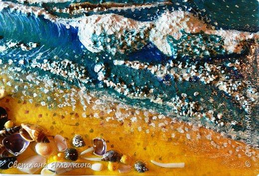 """И снова...здравствуйте жители СМ! Представляю Вам новую работу, выполнена так же как и  панно """"Зимний закат.""""  http://stranamasterov.ru/node/979934 Небо и песок) нарисованы на ватмане под стеклом, всё остальное поверх стекла. .Размер рамки 33х25 см. фото 6"""