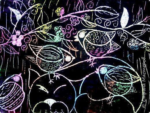 Рисуем кошку с птичками. фото 28