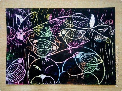 Рисуем кошку с птичками. фото 27