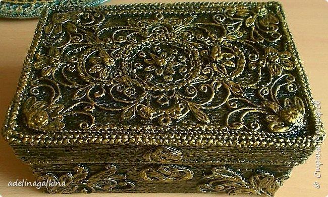 Шкатулка-макраме-скань фото 1