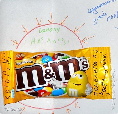 """Очень понравилась идея подарка Анютки http://stranamasterov.ru/node/894106?c=favorite. Захотелось всех мальчишек нашего класса одновременно так поздравить. Получилась веселая газета: """"Мальчики, налетай, себе конфету выбирай!""""  фото 2"""