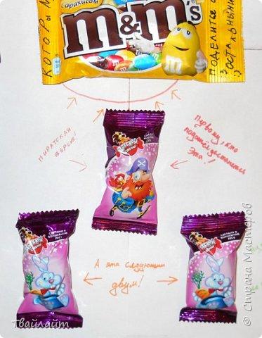 """Очень понравилась идея подарка Анютки http://stranamasterov.ru/node/894106?c=favorite. Захотелось всех мальчишек нашего класса одновременно так поздравить. Получилась веселая газета: """"Мальчики, налетай, себе конфету выбирай!""""  фото 3"""