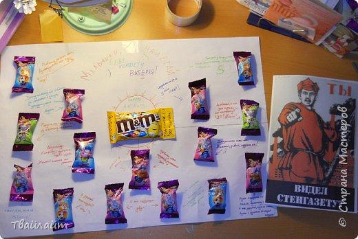 """Очень понравилась идея подарка Анютки http://stranamasterov.ru/node/894106?c=favorite. Захотелось всех мальчишек нашего класса одновременно так поздравить. Получилась веселая газета: """"Мальчики, налетай, себе конфету выбирай!""""  фото 8"""