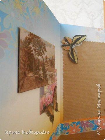 Эти открытки я сделала с перьями павлина, они напоминают мне траву. Напридумывала, что могла и из чего могла. фото 11