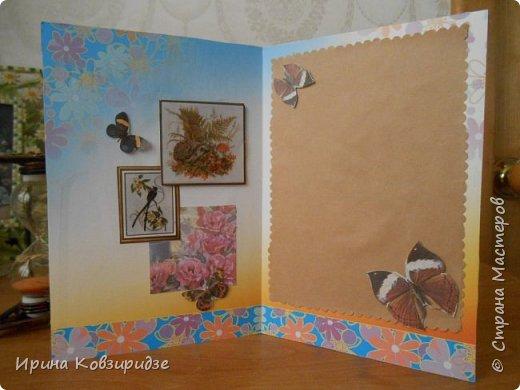 Эти открытки я сделала с перьями павлина, они напоминают мне траву. Напридумывала, что могла и из чего могла. фото 3