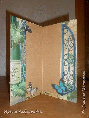 Эти открытки я сделала с перьями павлина, они напоминают мне траву. Напридумывала, что могла и из чего могла. фото 14