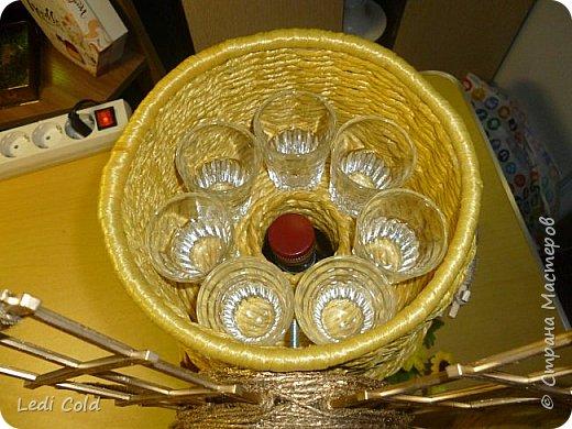 Мельница выполнена плетением вокруг шпажек из обыкновенного бельевого шнура. фото 3
