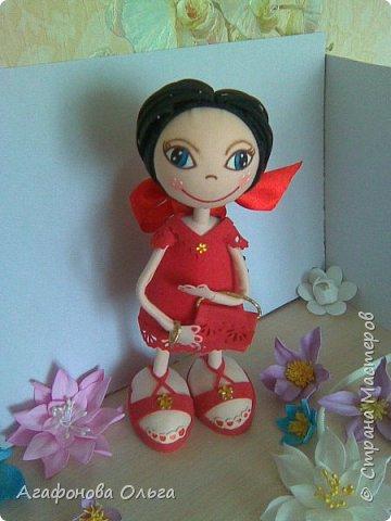 Кукла Кристина из фоамирана в красном фото 1