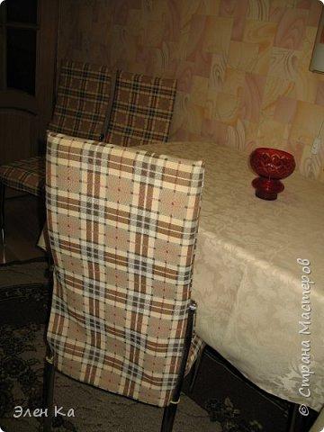 """Добрый вечер. Персонаж фильма """"Двенадцать стульев"""" говорил:  """"Утром деньги - вечером стулья"""". Перефразируя автора этих строк, можно сказать, что утром бегом на работу, а вечером появилось время сфотать стульчики.  Одежда на четыре таких стула была сшита год назад в очередные длинные новогодние праздники. фото 3"""