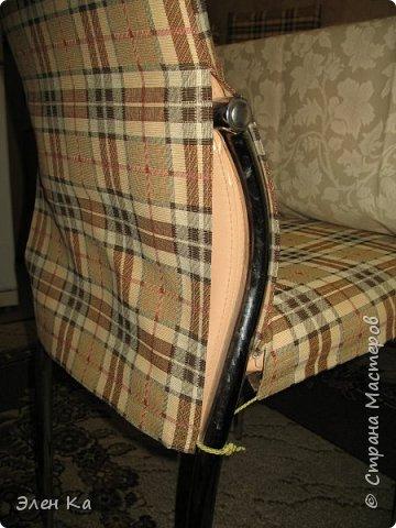 """Добрый вечер. Персонаж фильма """"Двенадцать стульев"""" говорил:  """"Утром деньги - вечером стулья"""". Перефразируя автора этих строк, можно сказать, что утром бегом на работу, а вечером появилось время сфотать стульчики.  Одежда на четыре таких стула была сшита год назад в очередные длинные новогодние праздники. фото 4"""