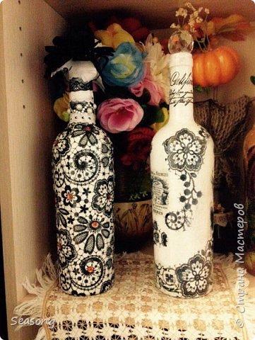 Декупаж, чудо бутылочка для вдохновения, для интерьера :) или... фото 6