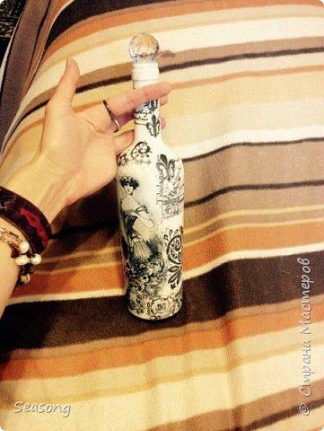 Декупаж, чудо бутылочка для вдохновения, для интерьера :) или... фото 5