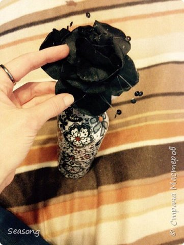 Декупаж, чудо бутылочка для вдохновения, для интерьера :) или... фото 7