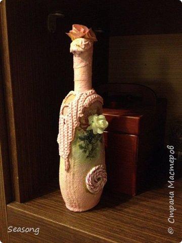 Декупаж, чудо бутылочка для вдохновения, для интерьера :) или... фото 1