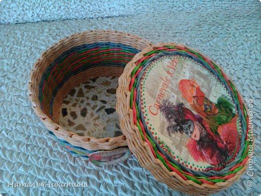 Мои радужные плетенки. Утилизировала остатки цветных трубочек. Веселенькие получились. фото 17