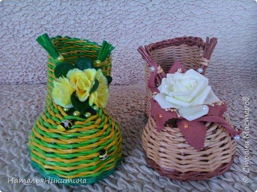 Мои радужные плетенки. Утилизировала остатки цветных трубочек. Веселенькие получились. фото 32