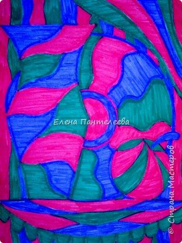 Учитывая пожелание хорошего человека, предлагаю нарисовать простой декоративный натюрморт. фото 19