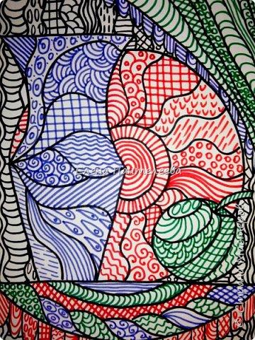 Учитывая пожелание хорошего человека, предлагаю нарисовать простой декоративный натюрморт. фото 16