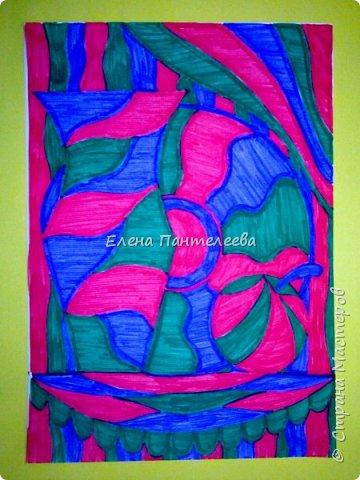 Учитывая пожелание хорошего человека, предлагаю нарисовать простой декоративный натюрморт. фото 18