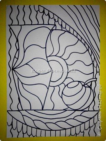 Учитывая пожелание хорошего человека, предлагаю нарисовать простой декоративный натюрморт. фото 15