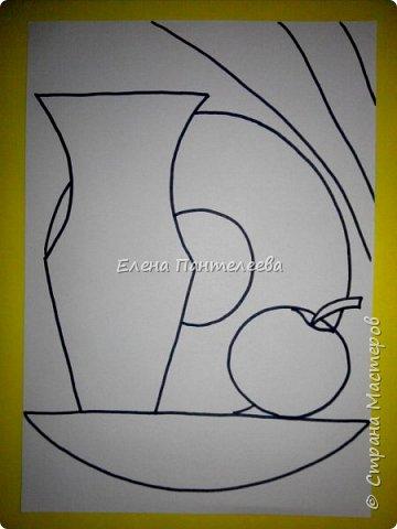 Учитывая пожелание хорошего человека, предлагаю нарисовать простой декоративный натюрморт. фото 14