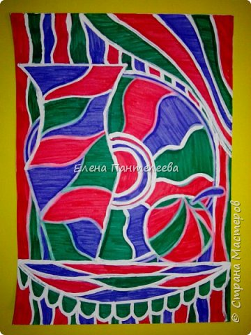 Учитывая пожелание хорошего человека, предлагаю нарисовать простой декоративный натюрморт. фото 4