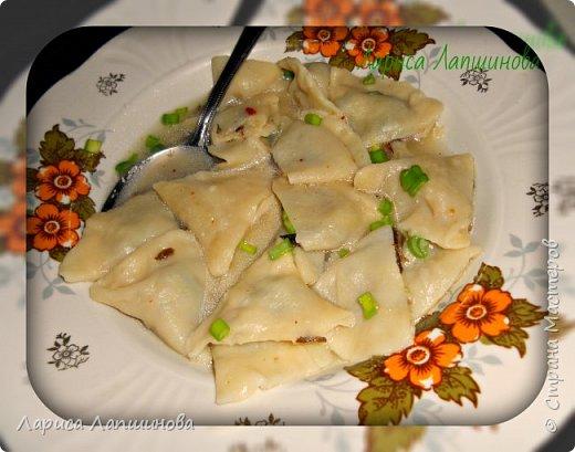 """Сегодня с мужем лепили домашние вареники с картошкой и грибами.  Хочу поделиться с Вами. По себе знаю, как увидишь что-то вкусненькое, так сразу хочется приготовить. Надеюсь и у вас появится такое желание. Как делать тесто, я писала в рецепте """"Домашние пельмени: http://stranamasterov.ru/node/1002816 фото 12"""