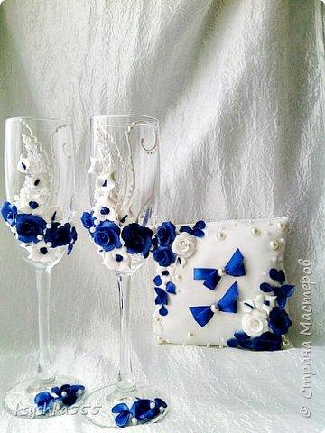 Бело-синий - чарующий и магический цвет! Свадьба, оформленная в бело-синих тонах, получается поистине волшебной! фото 2
