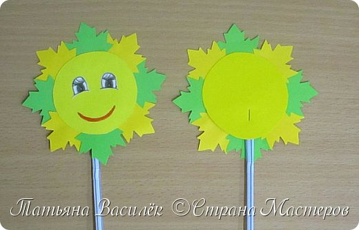 Это Осеннее Солнышко мы с детьми сделали в подарок родителям на Праздник Осени:) фото 15