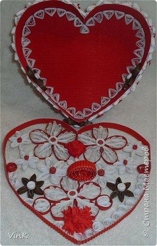 Шкатулка -сердце фото 5