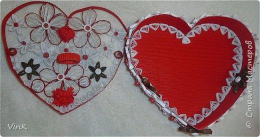 Шкатулка -сердце фото 4