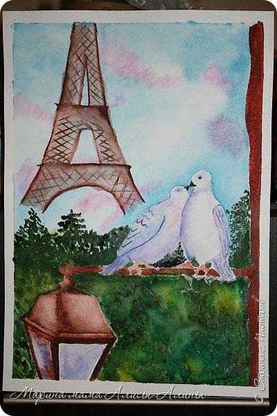 """Ещё чуть-чуть моих рисунков. """"Римские улочки"""", масло. рисовала по уроку Игоря Сахарова, что-то не очень как-то(( ну что ж,отрицательный результат-тоже результат. фото 2"""