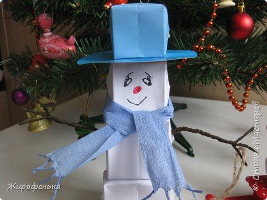 Этого милого снеговичка сделала моя соседка Вероника (7 лет) с моей помощью. Спасибо за МК Т.Н. Просняковой. фото 6