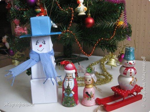 Этого милого снеговичка сделала моя соседка Вероника (7 лет) с моей помощью. Спасибо за МК Т.Н. Просняковой. фото 8